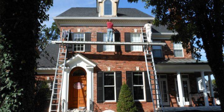 Exterior Brick House Painting