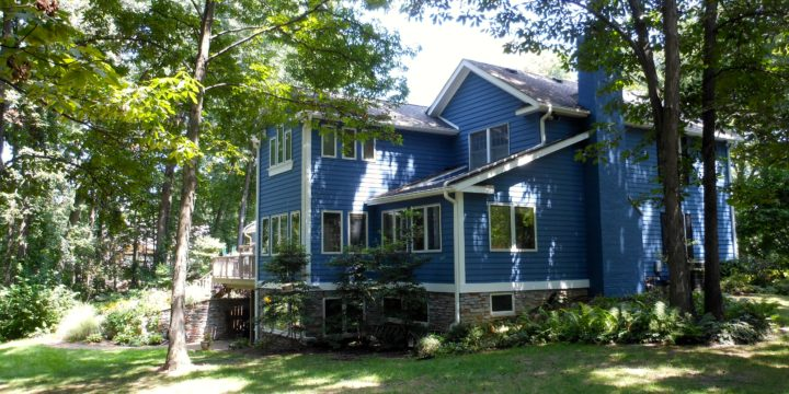 Exterior Painting Blue House