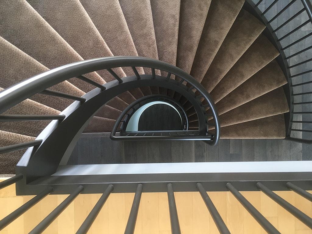 Interior Spiral Staircase Overhead
